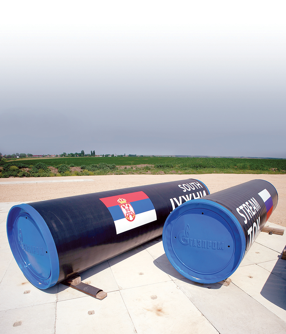Picture taken on June 11, 2014, near the village of Sajkas, 80 kilometres north of the Serbian capital Belgrade, shows the site where Serbia started the construction in Novemeber 2013 of their section of Russia's South Stream pipeline. Serbian Prime Minister Aleksandar Vucic said on June 9, 2014 that construction of his country's stretch of Russia's South Stream gas pipeline was continuing, disputing a report it had followed Bulgaria in halting work. Gazprom signed a deal with Serbia in October 2012 to construct the 421-kilometre (261-mile) long stretch of the pipeline, worth some 1.9 billion euros ($2.57 billion).   AFP PHOTO / ANDREJ ISAKOVIC        (Photo credit should read ANDREJ ISAKOVIC/AFP/Getty Images)