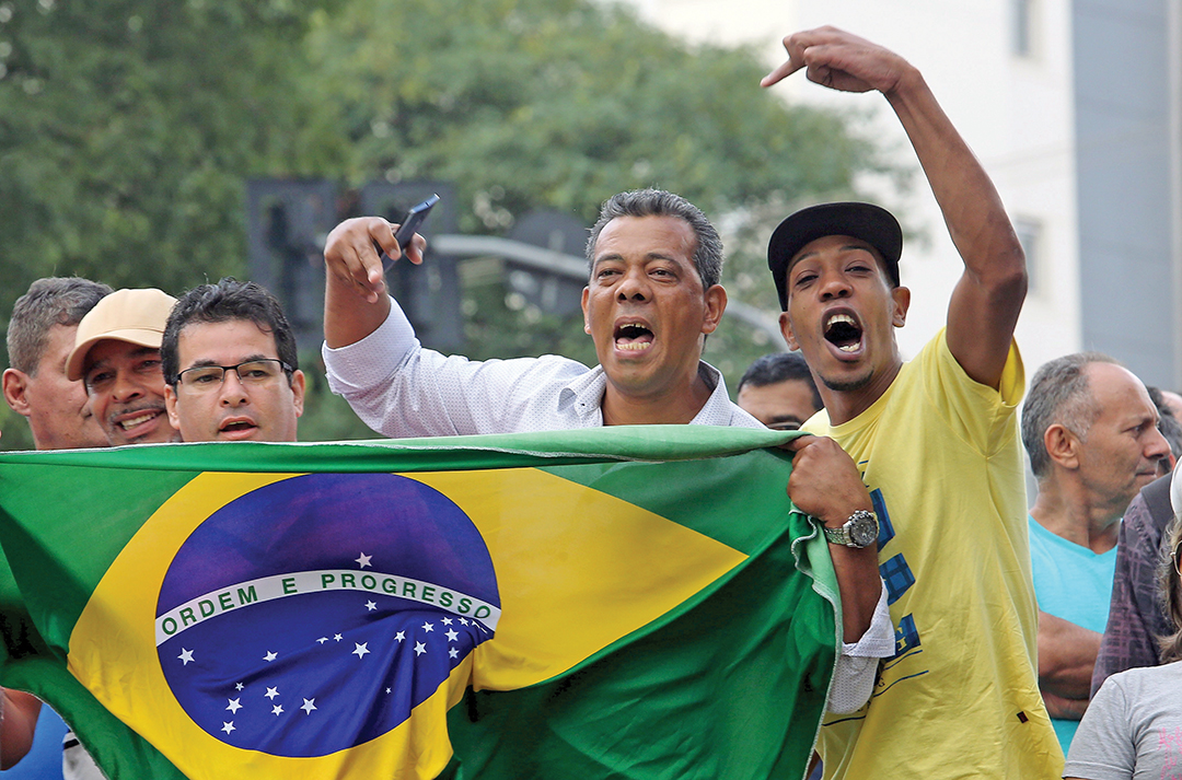 Brazilians demonstrate against former president Luiz Inacio Lula da Silva, who faced corruption allegations, in March 2016. Tolerance for official corruption is declining worldwide. REUTERS