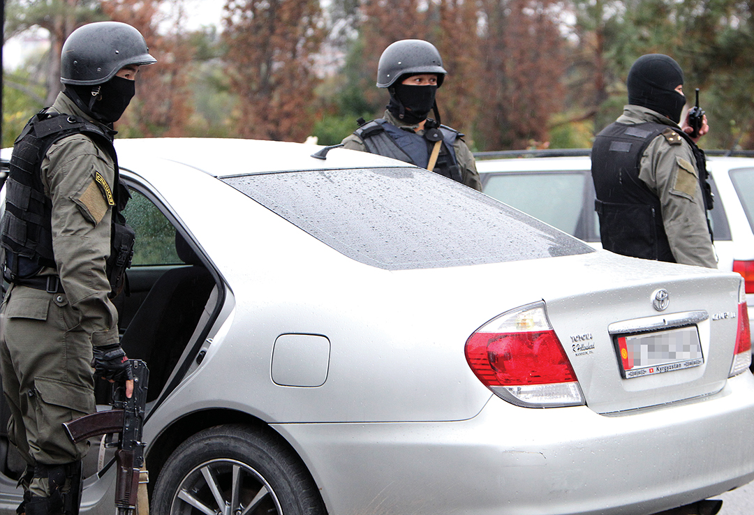 Kyrgyz Special Forces conduct an anti-terrorist operation in Bishkek in October 2015. The U.S. Department of Energy funds programs in the Kyrgyz Republic to help keep nuclear materials out of the hands of terrorists. EPA